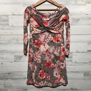 Peach Love California floral dress. Medium